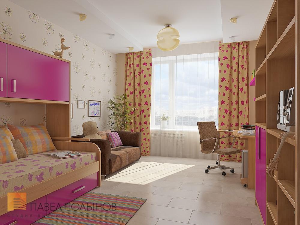 Дизайн комнаты 18 кв.м гостиной-детской