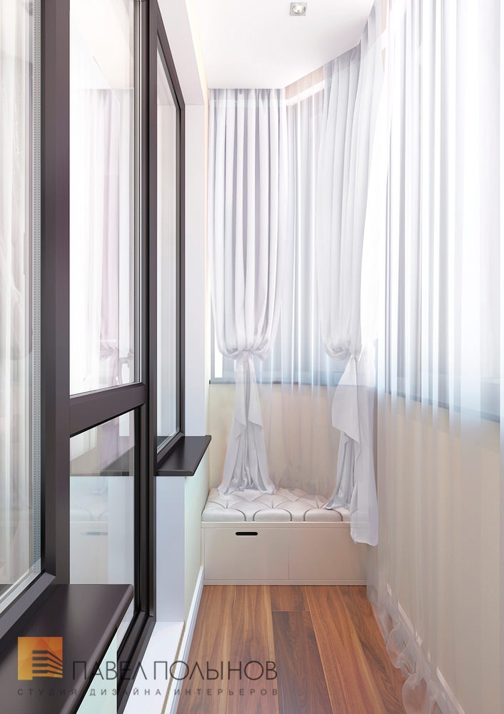 Варианты дизайна интерьера балконов.