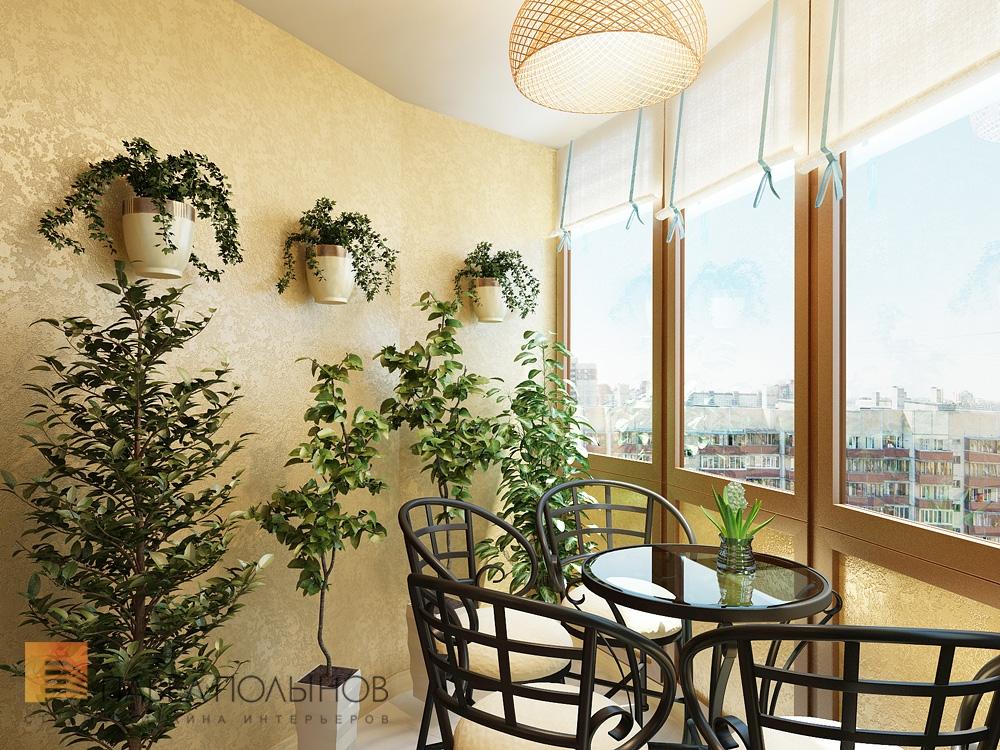 "Уютный интерьер на балконе нестандартной формы"" - карточка п."