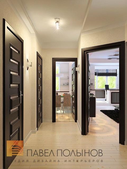Коричневые двери в светлом интерьере