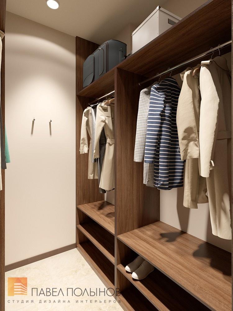 Просторная гардеробная комната в жк duderhof club.