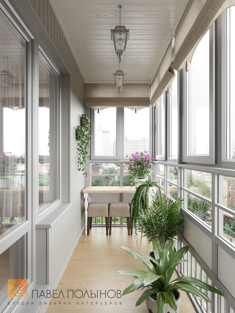 """Фото: лоджия - интерьер квартиры в классическом стиле, жк """"н."""