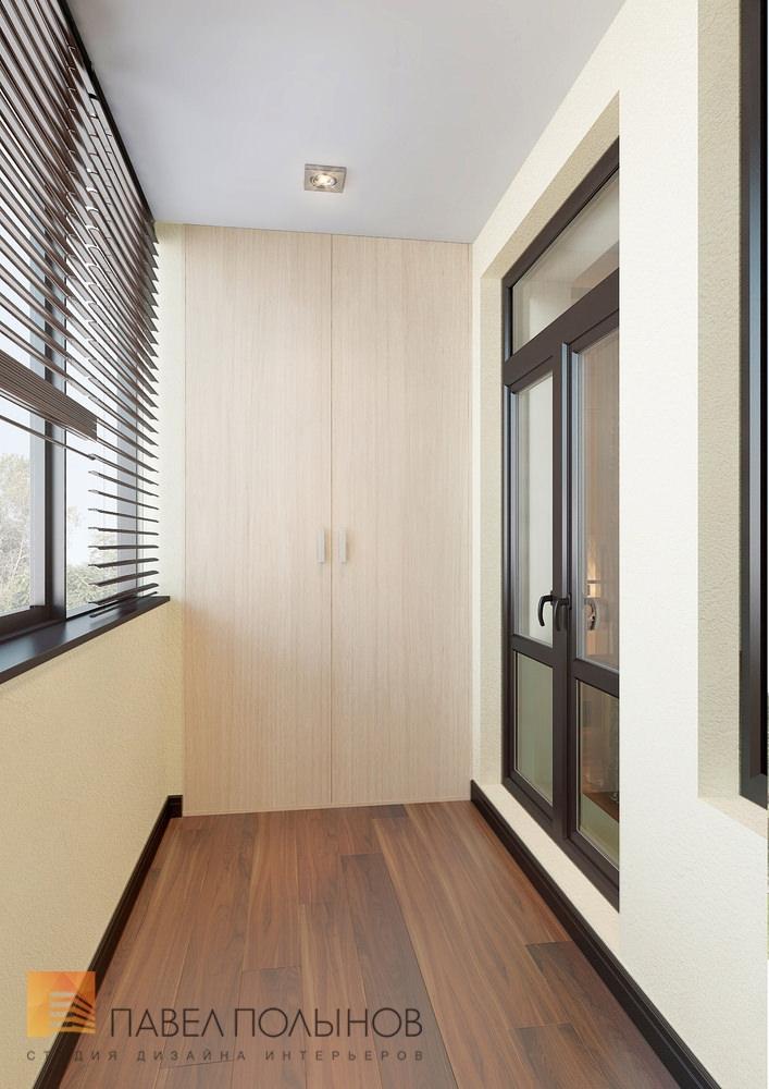 Интерьер балкона, система хранения.