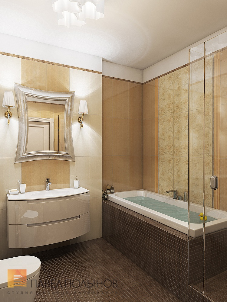 Дизайн ванной комнаты без унитаза 4 кв.м