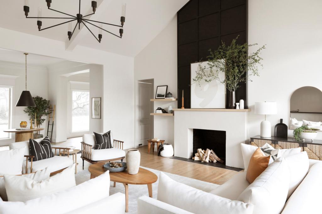 Простые и стильные способы декорирования гостиной комнаты