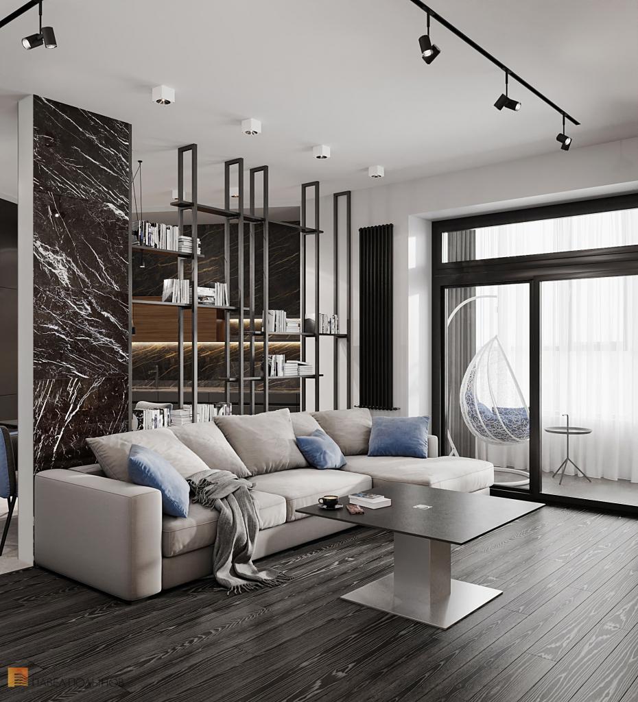 Интерьер квартиры в современном стиле в ЖК «Остров»
