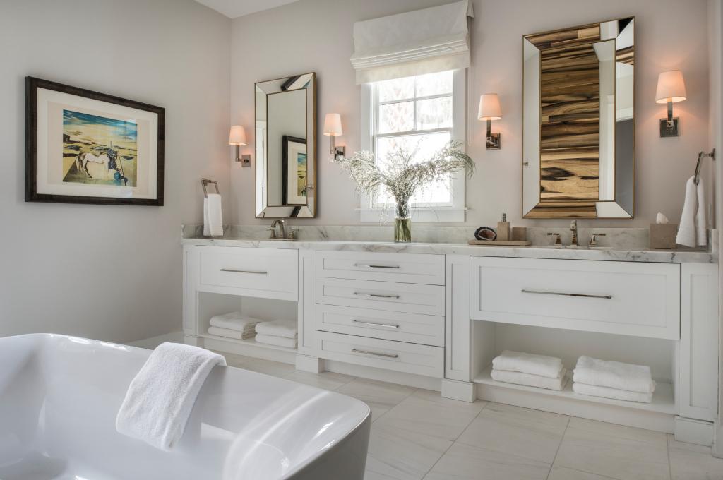 Как организовать освещение в ванной