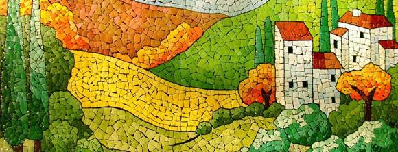 Как сделать картину мозаичной плиткой