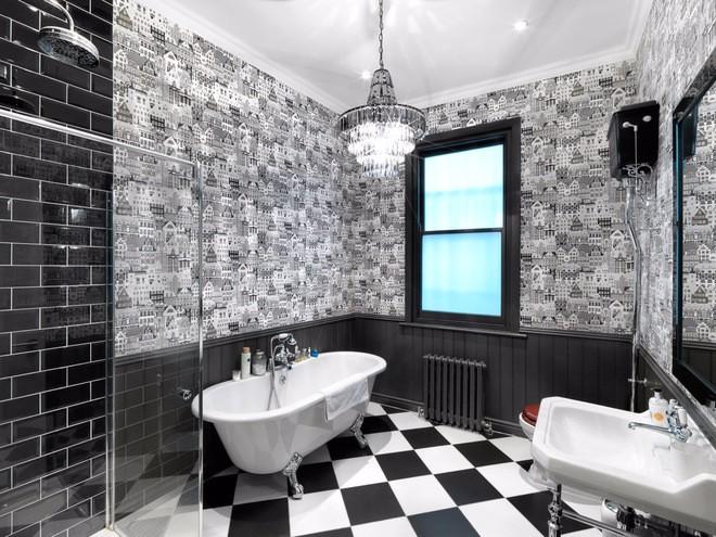 Черный дизайн ванной комнаты интернет магазин держатели ванная