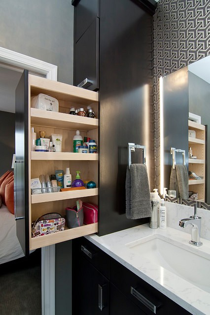 Стильные решения для хранения в ванной