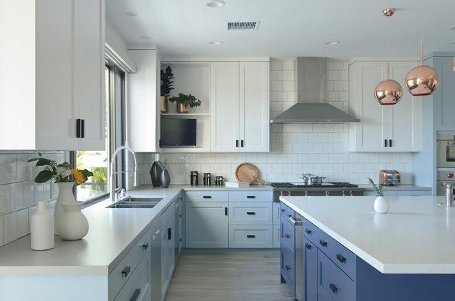 Как использовать фиолетовый цвет в интерьере кухни