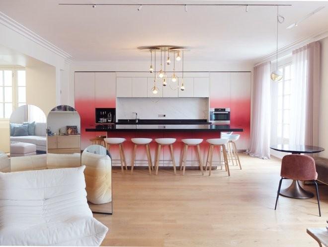 Идеальный розовый для интерьера кухни