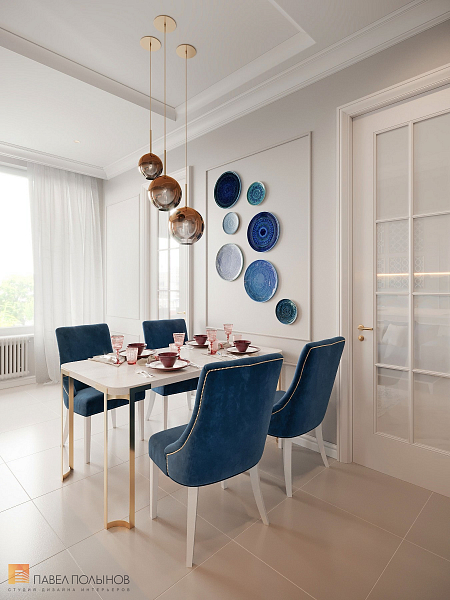 Современная классика и восточный стиль в интерьере квартиры в ЖК Look